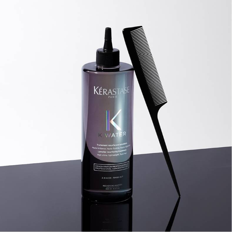 Want shinier hair? Then look to our K Water salon service, by Kérastase.